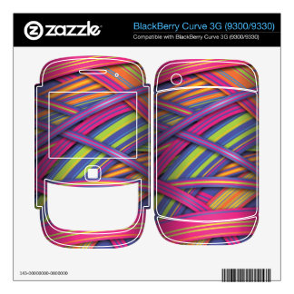 Disco Colored Ribbons effect Decal For BlackBerry