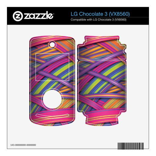 Disco Colored Ribbons effect Skins For LG Chocolate 3
