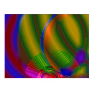 Disco compacto abstracto postal