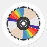 Disco compacto pegatina redonda