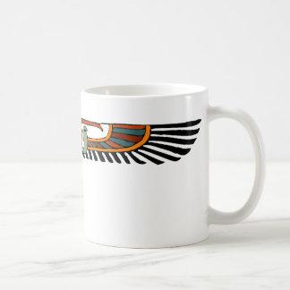 Disco con alas egipcio taza de café