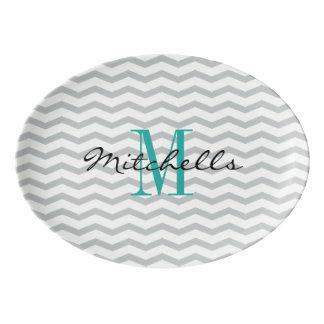 Disco conocido personalizado de la porción del badeja de porcelana