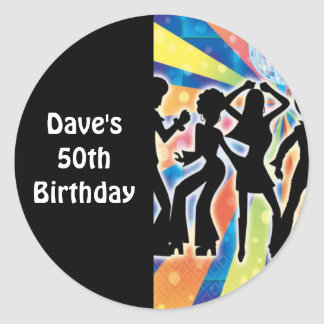 Disco Dance Birthday Party Favor Labels