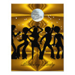 "Disco Dance Birthday Party Invitation 4 4.25"" X 5.5"" Invitation Card"
