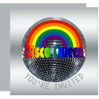 Disco Dance Birthday Party | Retro 70s Disco Party Card