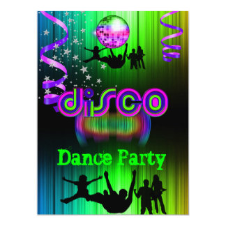 Disco Dance Party Event Crowd Rave 2 Card