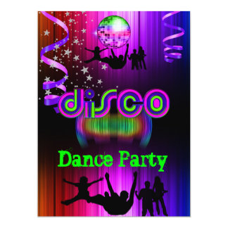 Disco Dance Party Event Crowd Rave Card
