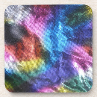 Disco Dance Party - Wrinkled Fabric Coaster