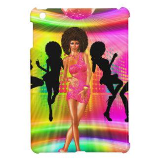 Disco dance scene with silhouettes, retro. iPad mini cover