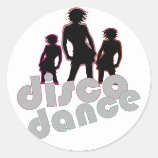 Disco Dance Round Stickers