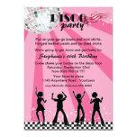 Disco Dancers Birthday 5x7 Paper Invitation Card