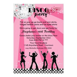 Disco Dancers Birthday Custom Invites
