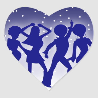 Disco Dancers Sticker (Heart)