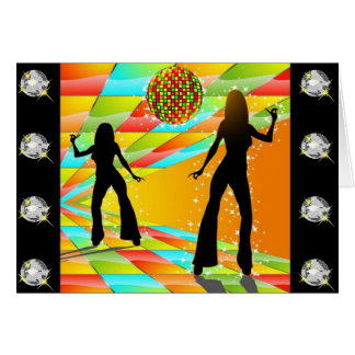 Disco Dancing Card