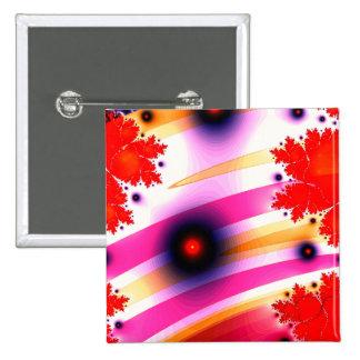 Disco Dancing Fractal Waves Button
