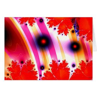Disco Dancing Fractal Waves Card