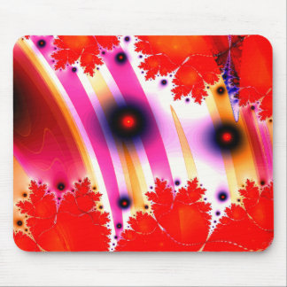 Disco Dancing Fractal Waves Mouse Pad