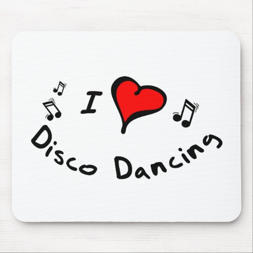 Disco Dancing I Heart-Love Mouse Pad