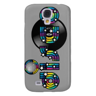 Disco Dancing Mirrored Ball and Vinyl Record Galaxy S4 Cover