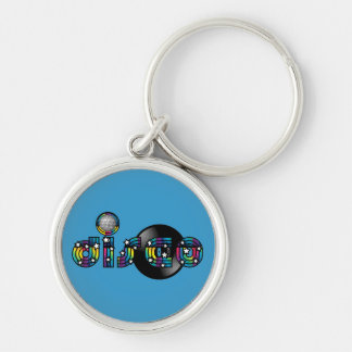 Disco Dancing Mirrored Ball and Vinyl Record Keychain