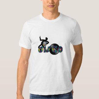 Disco Dancing Mirrored Ball and Vinyl Record T Shirt