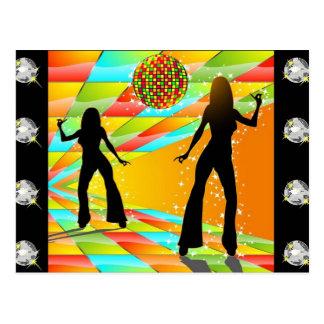 Disco Dancing Postcard