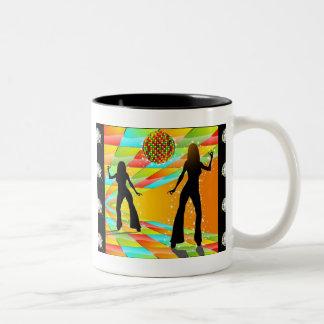 Disco Dancing Two-Tone Coffee Mug