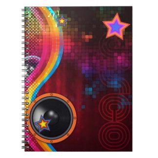 Disco de Digitaces Spiral Notebook