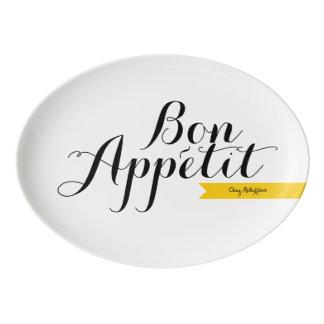 Disco de encargo del fiesta de la familia francesa badeja de porcelana