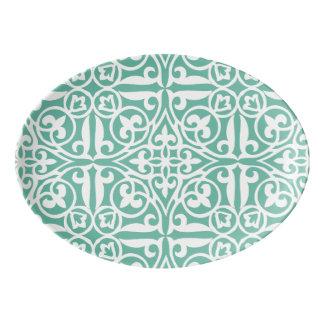 Disco de la greca badeja de porcelana