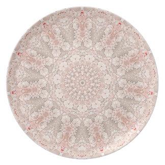 Disco de la mandala V del resplandor del flor (ser Platos