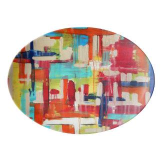 Disco de la porcelana de las travesías 13x9.25 badeja de porcelana