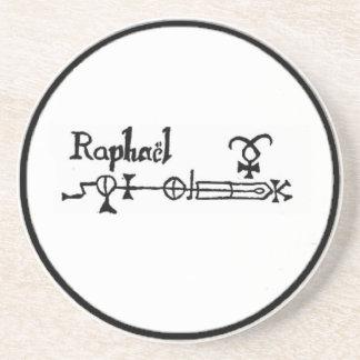 Disco de ofrecimiento de Raphael del arcángel Posavasos Personalizados