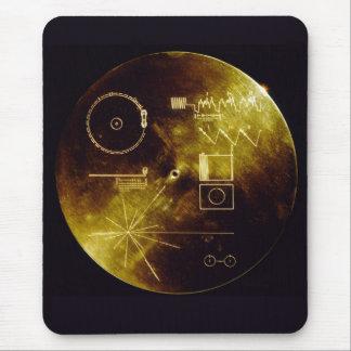 Disco de oro del viajero alfombrilla de ratones