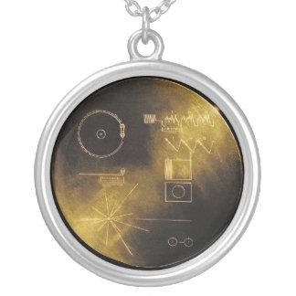 Disco de oro del viajero colgante redondo