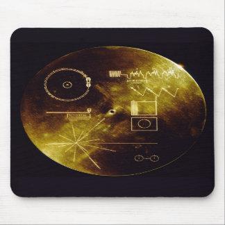 Disco de oro del viajero tapete de raton