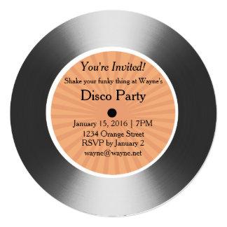"""Disco de plata del vinilo invitación 5.25"""" x 5.25"""""""