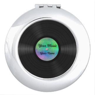 Disco de vinilo de encargo falso espejo compacto