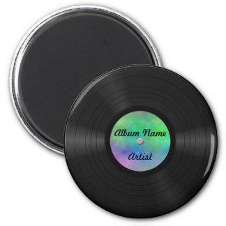 Disco de vinilo de encargo falso imán redondo 5 cm