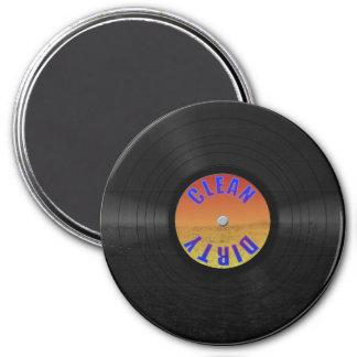 Disco de vinilo de encargo falso imán redondo 7 cm