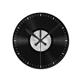 Disco de vinilo de encargo falso relojes de pared