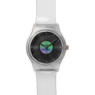 Disco de vinilo de encargo falso relojes