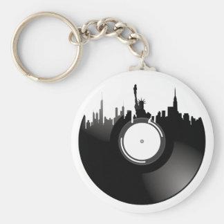 Disco de vinilo de New York City Llavero Redondo Tipo Pin