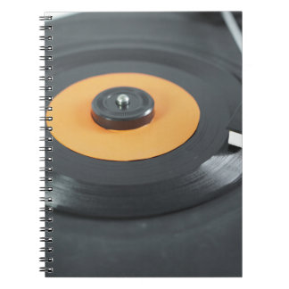 Disco de vinilo libro de apuntes con espiral
