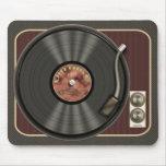 Disco de vinilo Mousepad del vintage Tapete De Ratón