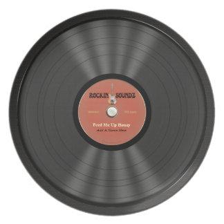 Disco de vinilo personalizado de la roca platos para fiestas