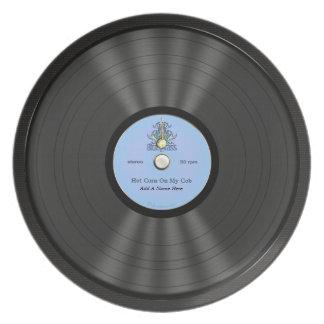 Disco de vinilo personalizado del Bluegrass Plato De Comida