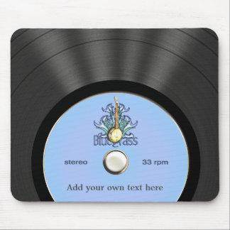 Disco de vinilo personalizado del Bluegrass Tapetes De Raton