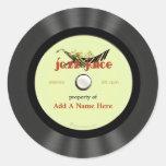 Disco de vinilo personalizado del jazz del vintage etiqueta redonda