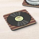 Disco de vinilo personalizado del jazz del vintage posavaso